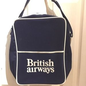 vtg British Airways airline bag, carry-on luggage